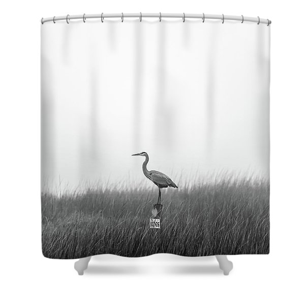 Waiting On The Fog To Clear Shower Curtain