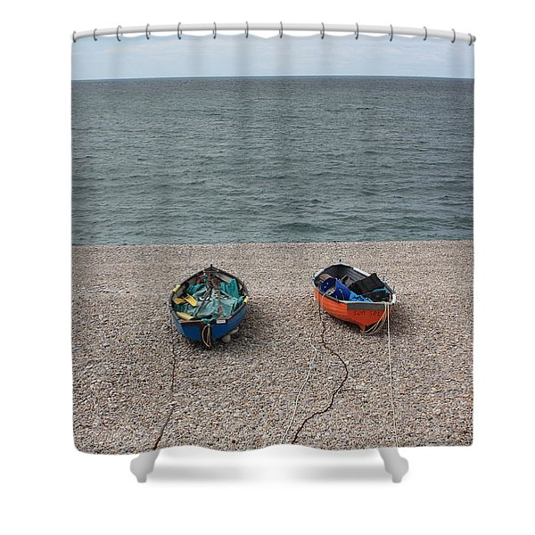 Waiting To Go To Sea Shower Curtain