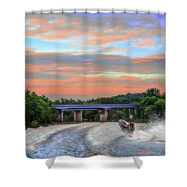 Wake Jumper  Shower Curtain