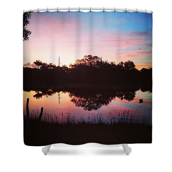Early Morning Sunrise Delight Shower Curtain