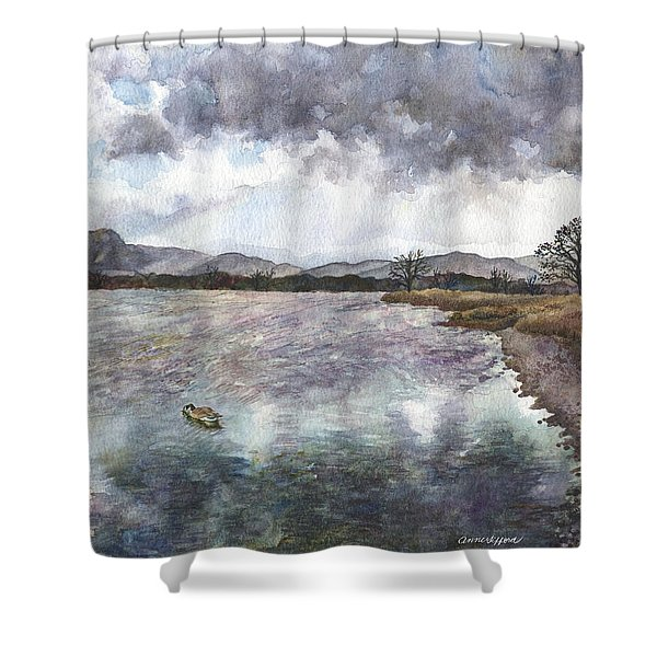 Walden Ponds On An April Evening Shower Curtain