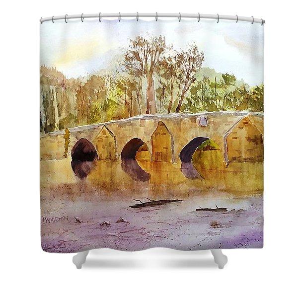 Wales Dipping Bridge Shower Curtain