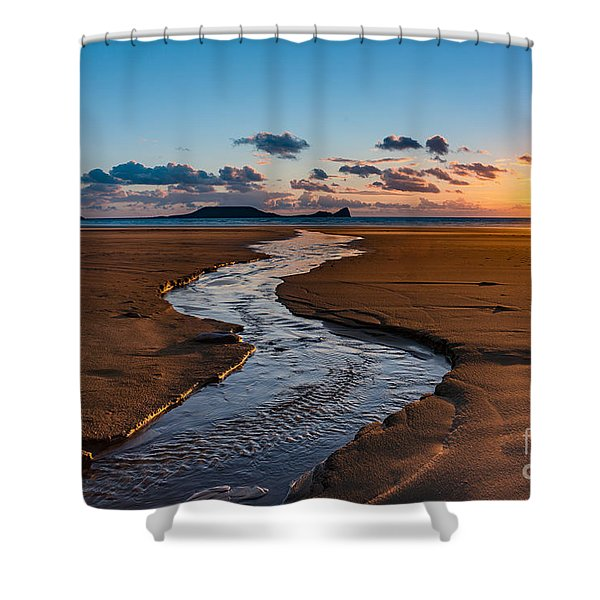 Wales Gower Coast Shower Curtain