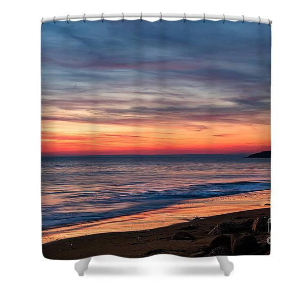 Wales Gower Coast Dusk Shower Curtain