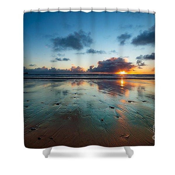 Wales Gower Coast Summer  Shower Curtain