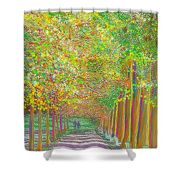 Walk In Park Cathedral Shower Curtain