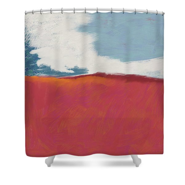 Walk In The Field- Art By Linda Woods Shower Curtain