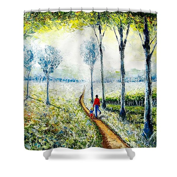 Walk Into The World Shower Curtain