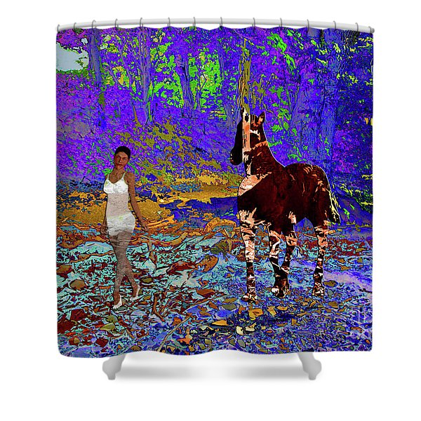 Walk The Enchanted Forest Shower Curtain