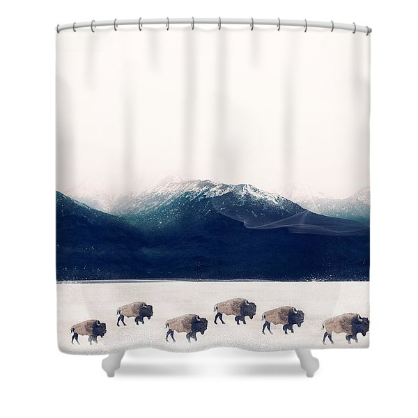 Walk The Line Shower Curtain