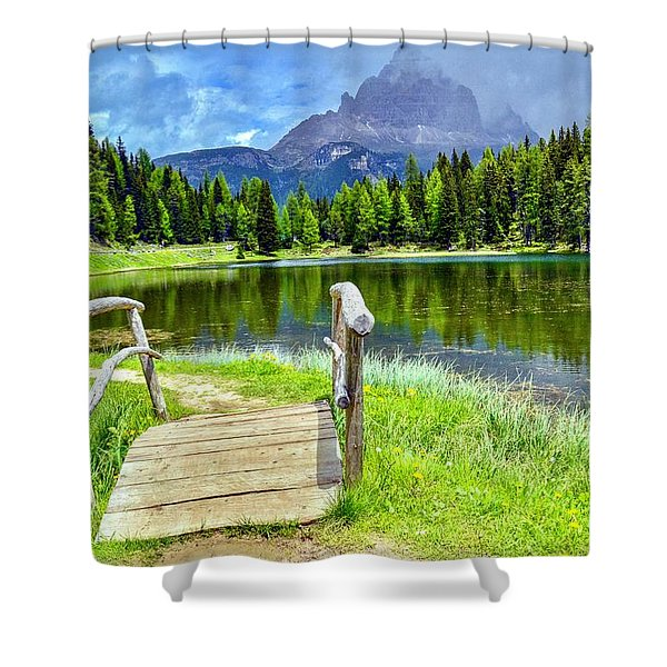 Walk With Me Shower Curtain