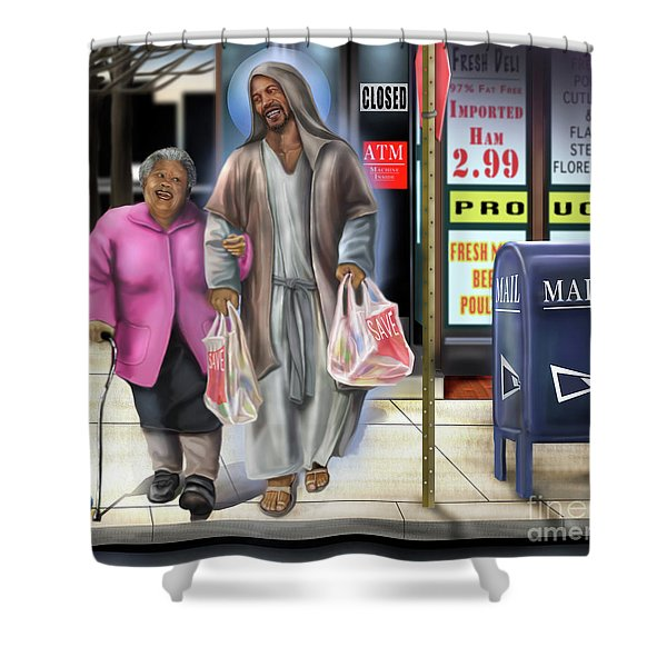 Walking By Faith Shower Curtain