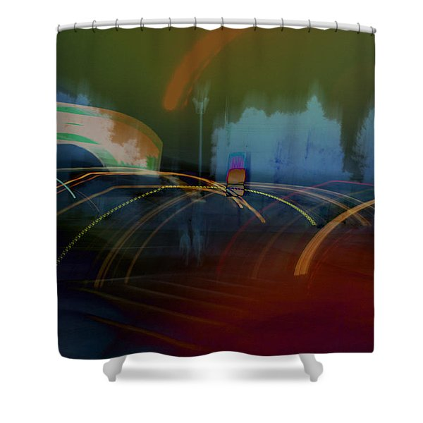 Walking In Carnival Lights Shower Curtain