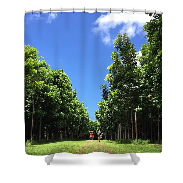 Walking Into The Woods Shower Curtain