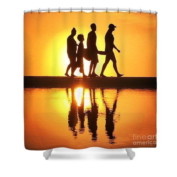 Walking On Sunshine Shower Curtain