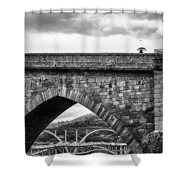 Walking On The Roman Bridge Shower Curtain