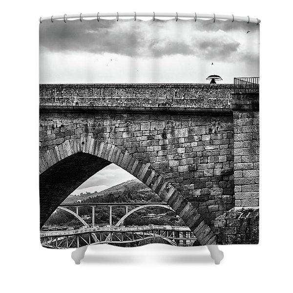 Walking On The Roman Bridge Shower Curtain