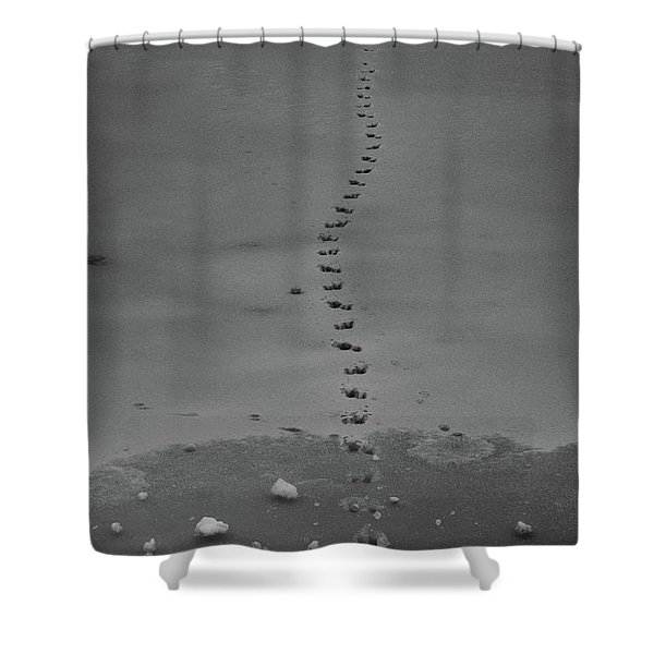 Shower Curtain featuring the photograph Walking On Thin Ice by Jason Coward