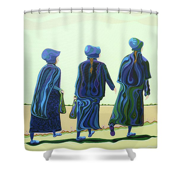 Walking The Walk Shower Curtain