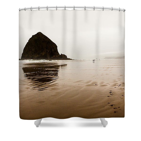 Walking The Wet Sand Shower Curtain
