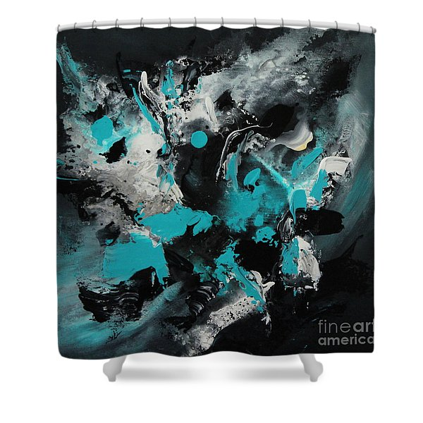 Walking Wave-1 Shower Curtain