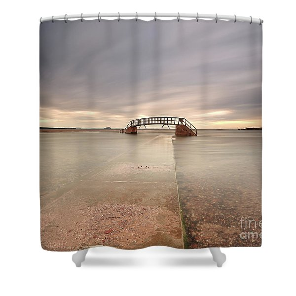 Walkway To The Stairs Shower Curtain