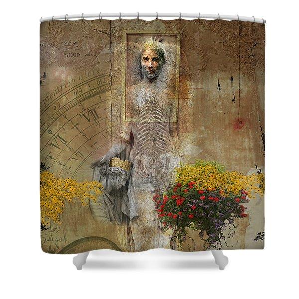 Wall Angel Shower Curtain