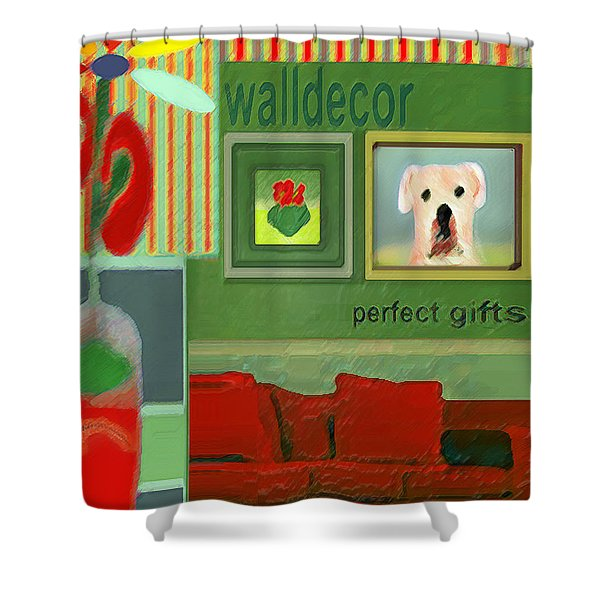 Wall Decor Painting   Shower Curtain