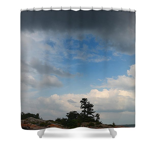 Wall Island 3623 Dramatic Sky Shower Curtain