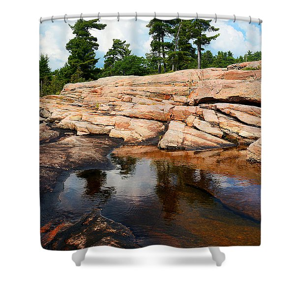 Wall Island Colours Shower Curtain