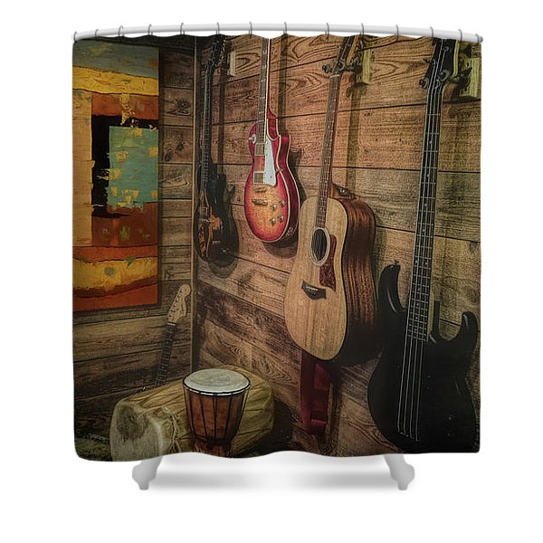 Wall Of Art And Sound Shower Curtain