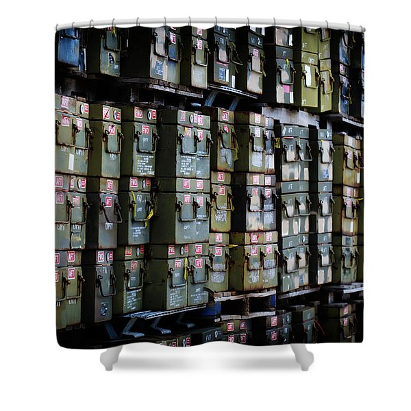 Wall Of Containment Shower Curtain