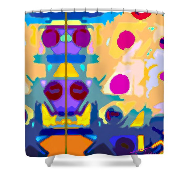 Wall Paper Shower Curtain