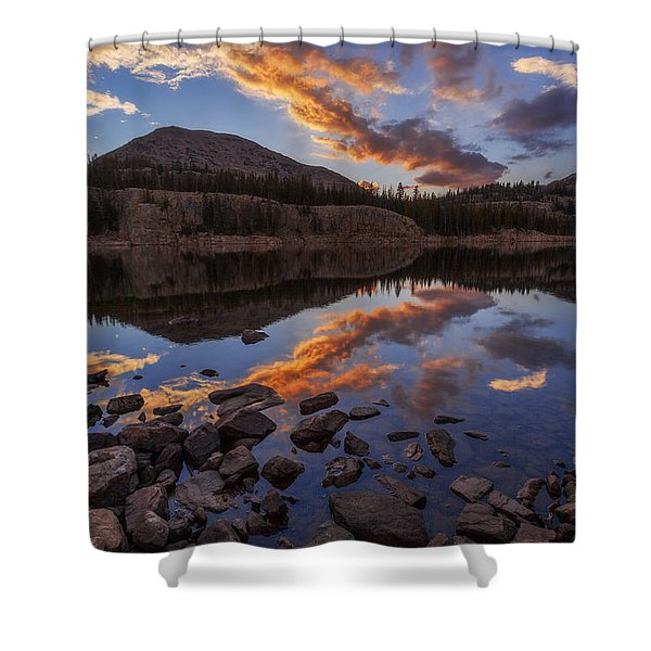 Wall Reflection Shower Curtain