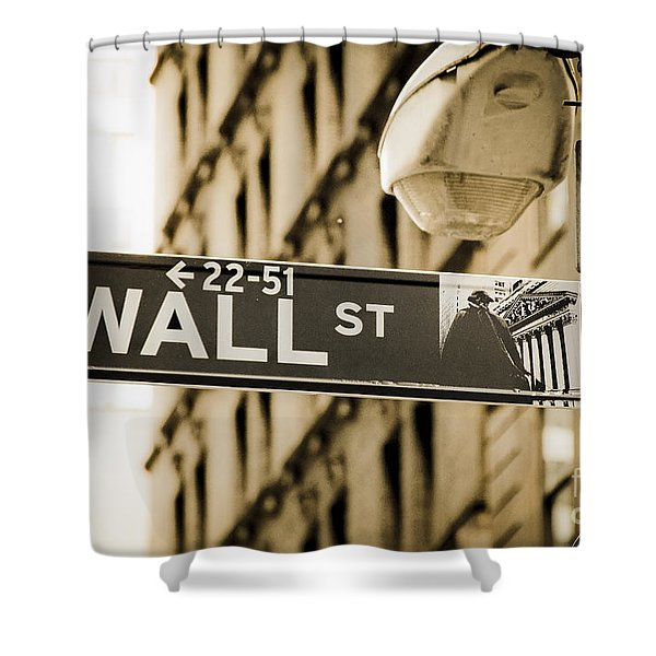 Shower Curtain featuring the photograph Wall Street by Juergen Held