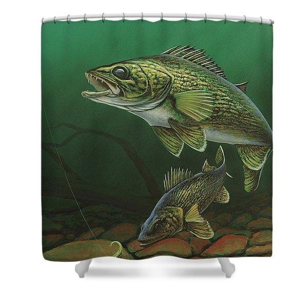 Walleye Shower Curtain