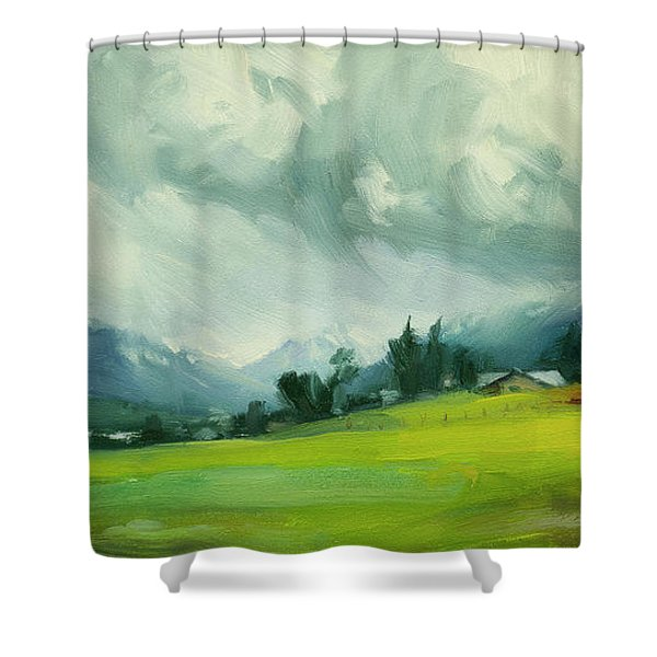 Wallowa Valley Storm Shower Curtain