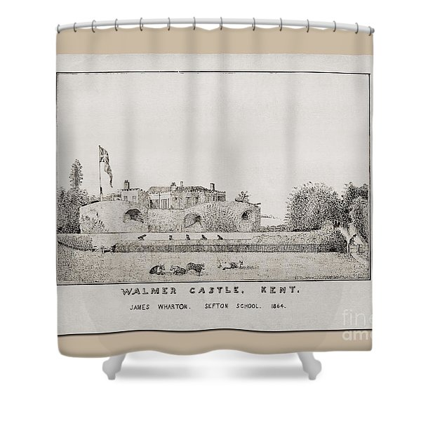 Walmer Castle Kent Shower Curtain