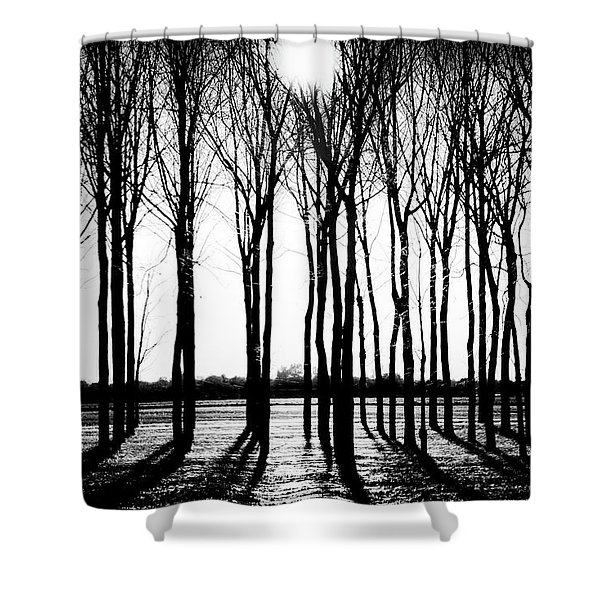 Walnut Grove Fall Evening Shower Curtain