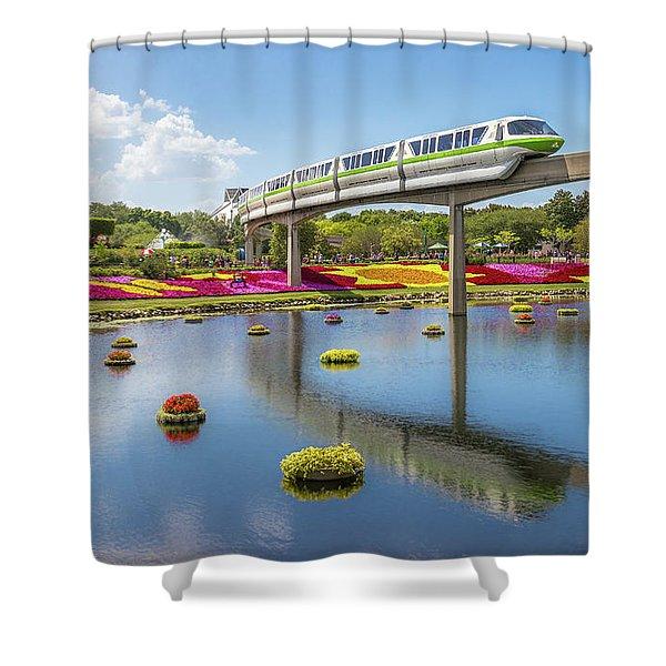 Walt Disney World Epcot Flower Festival Shower Curtain