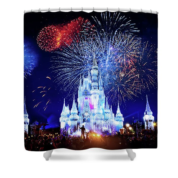 Walt Disney World Fireworks  Shower Curtain