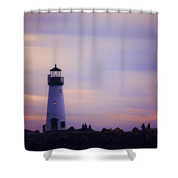 Walton Lighthouse Shower Curtain