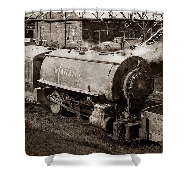 Wanamie Pennsylvania Coal Mine Locomotive Lokey 1969... Shower Curtain