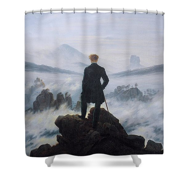 Wanderer Above The Sea Of Fog Shower Curtain