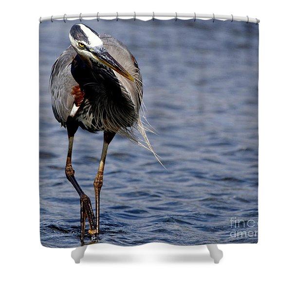 Wandering Heron Shower Curtain