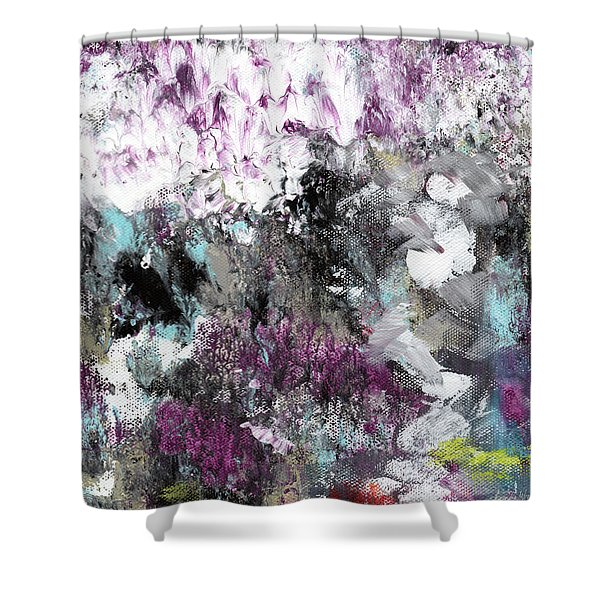 Wanderlust- Abstract Art By Linda Woods Shower Curtain