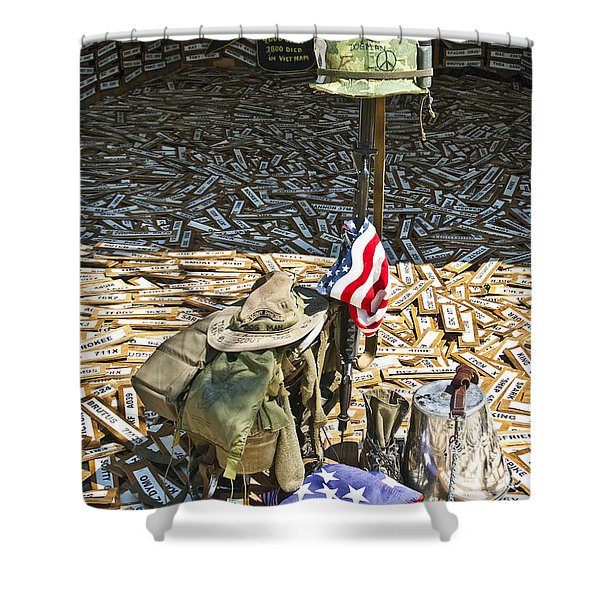 Shower Curtain featuring the photograph War Dogs Sacrifice by Carolyn Marshall