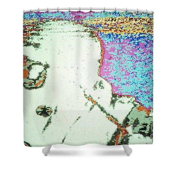War Image White Shower Curtain