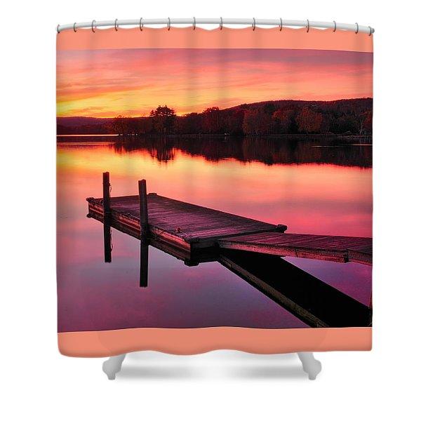 Waramaug Sunset Shower Curtain