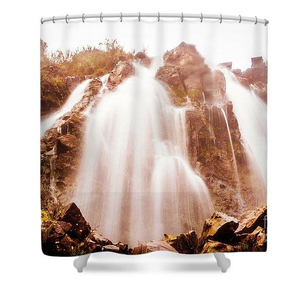 Waratah Wild Waterfall Shower Curtain